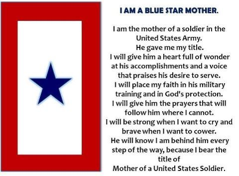 Proud Army Mom of US Soldier , my daughter  | Blue Star Mothers of