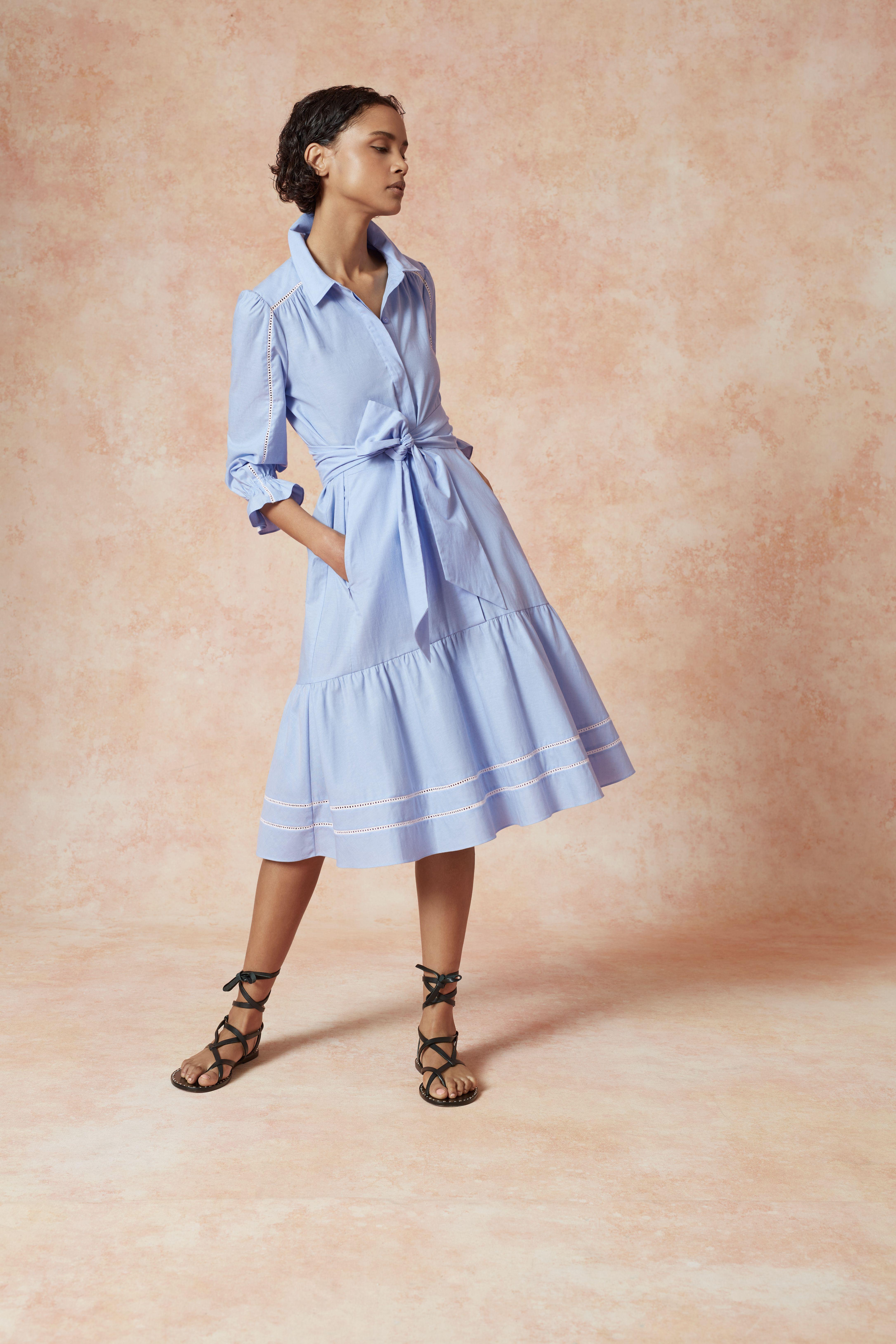 Chambray Cotton Shirt Dress Cotton Dress Summer Shirt Dress Dresses [ 6515 x 4343 Pixel ]