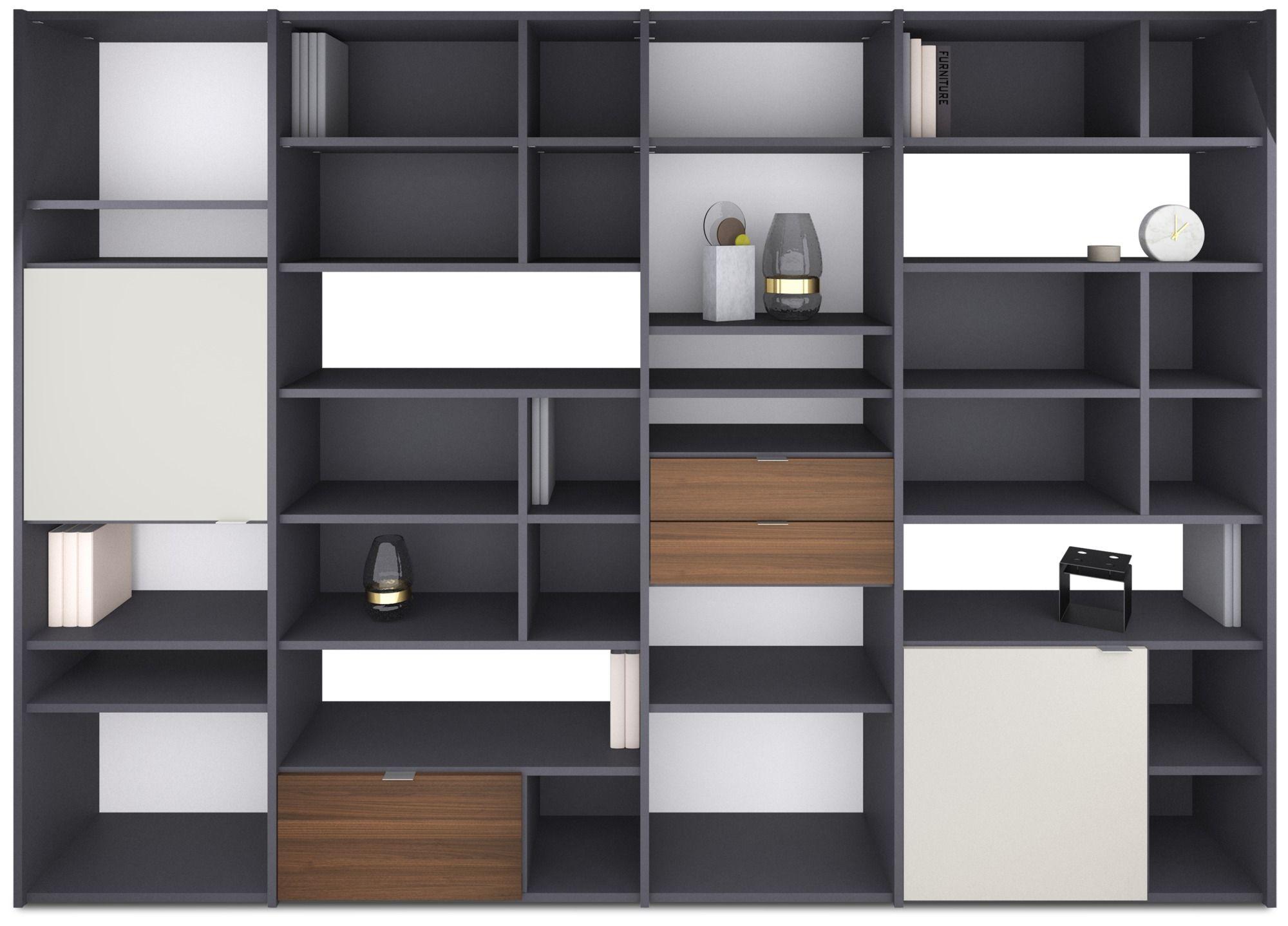 Boconcept De sistema de pared copenhagen librerías y almacenamiento de