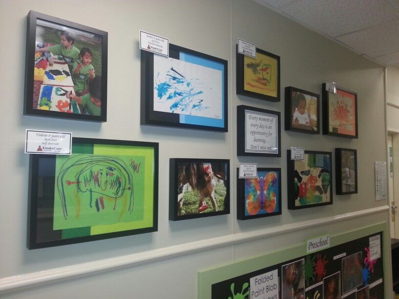 Foyer Ideas For Childcare : Art and picture display ece pinterest