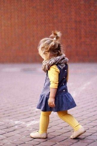Como combinar un vestido azul marino para nina