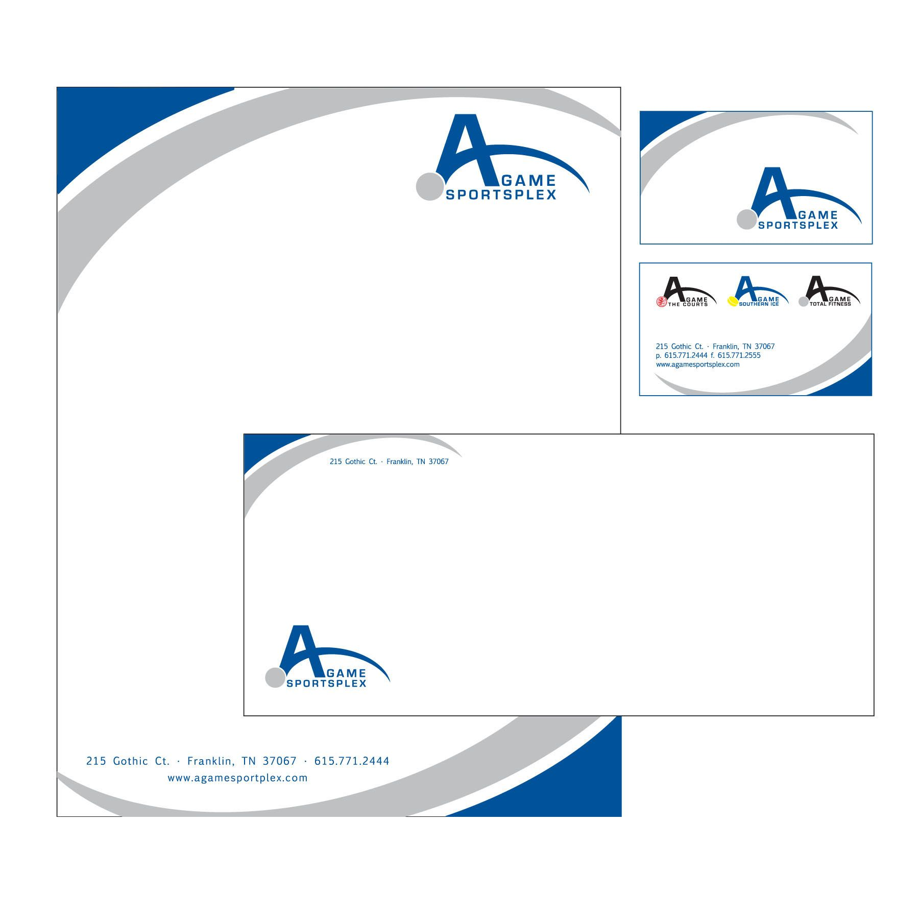 business card letterhead and envelope design