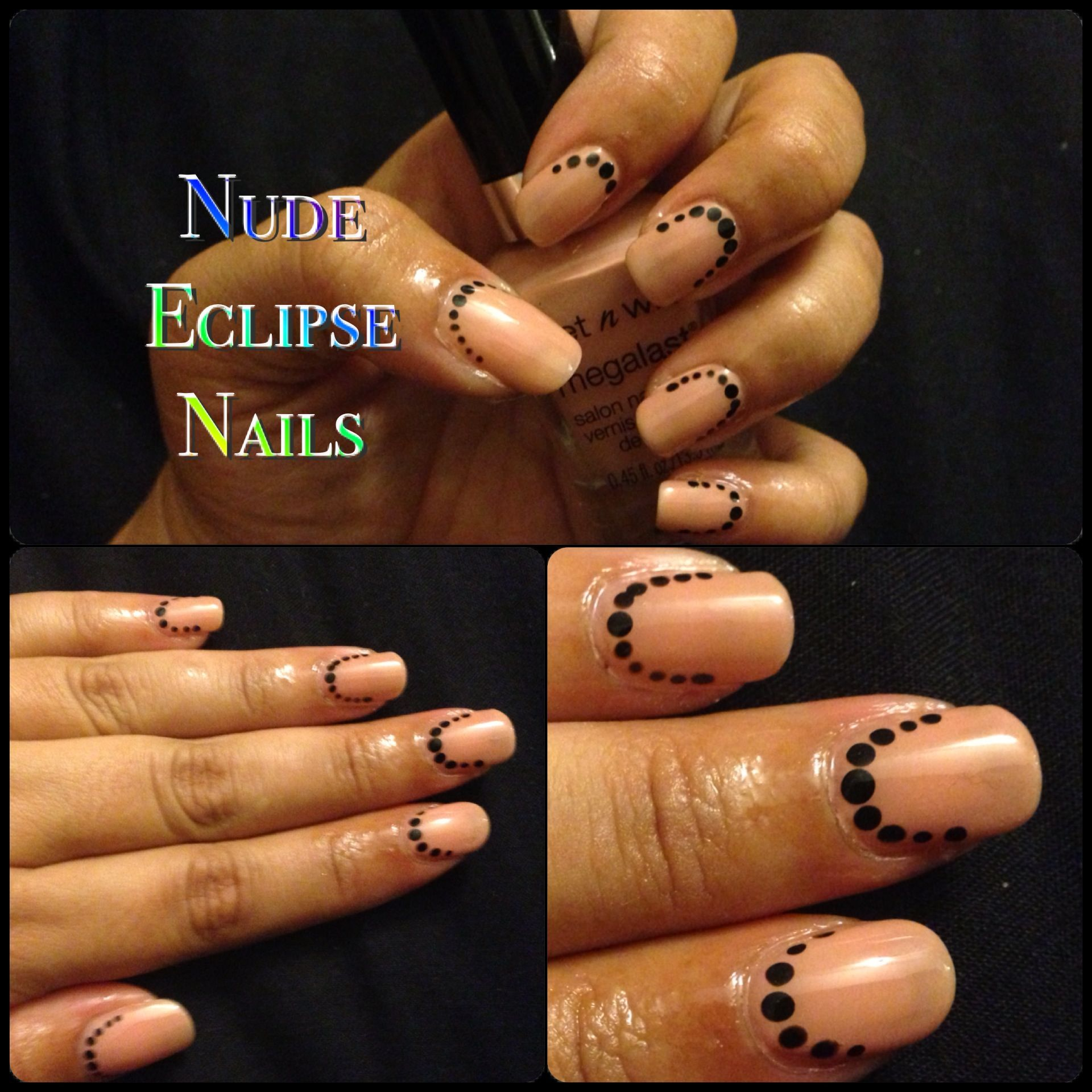 Nude eclipse nail art | A Collection of My Nail Designs | Pinterest
