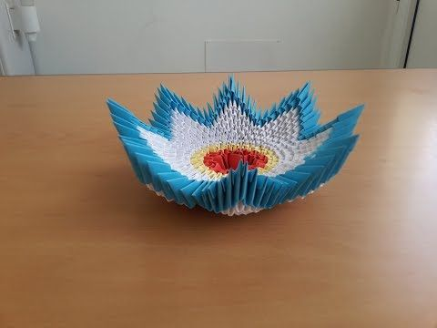 2 How To Make 3D Origami Bowl Tutorial By Are Life Ka