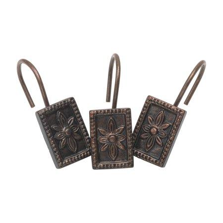 Inchcarlisleinch Resin Shower Curtain Hooks In Oil Rubbed Bronze Shower Curtain Hooks Oil Rubbed Bronze Bronze