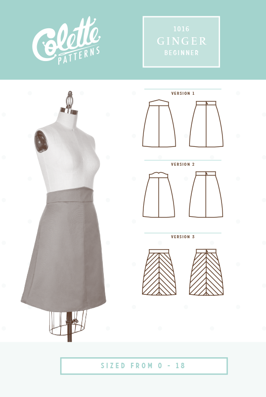 Colette Ginger Skirt⎜Apparel Pattern   Costura