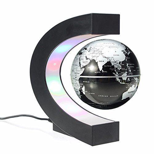 MECO Levitation Electronic Education Decoration | Floating globe. Magnetic levitation. Colored led lights