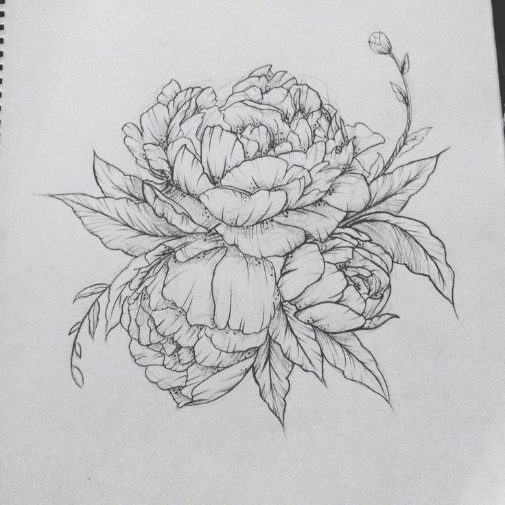 93d08f65b35f71403373efaab9802aeb Jpg 736 736 Flower Tattoo Designs Peonies Tattoo Peony Flower Tattoos