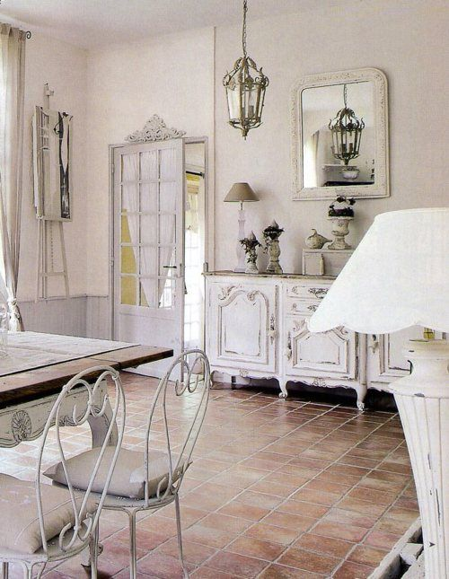 White french country love the floors river bliss for Country cottage floor tiles