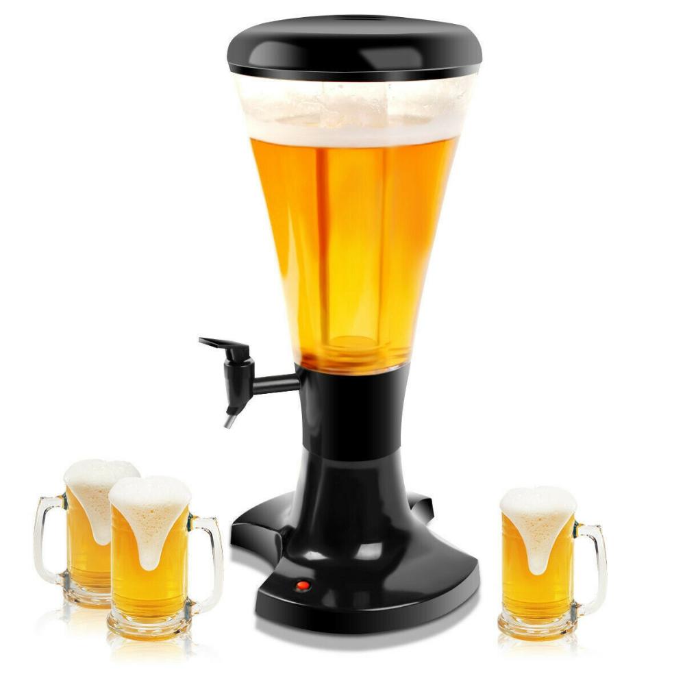 3l Draft Beer Tower Dispenser With Led Lights Ebay Beer Tower Dispenser Beer Tower Draft Beer Tower