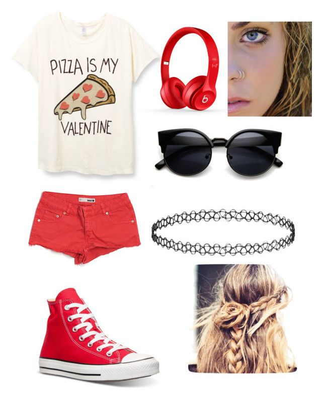"""""""Untitled #3"""" by foxydeadpool on Polyvore featuring Topshop, Beats by Dr. Dre, Converse, women's clothing, women's fashion, women, female, woman, misses and juniors"""