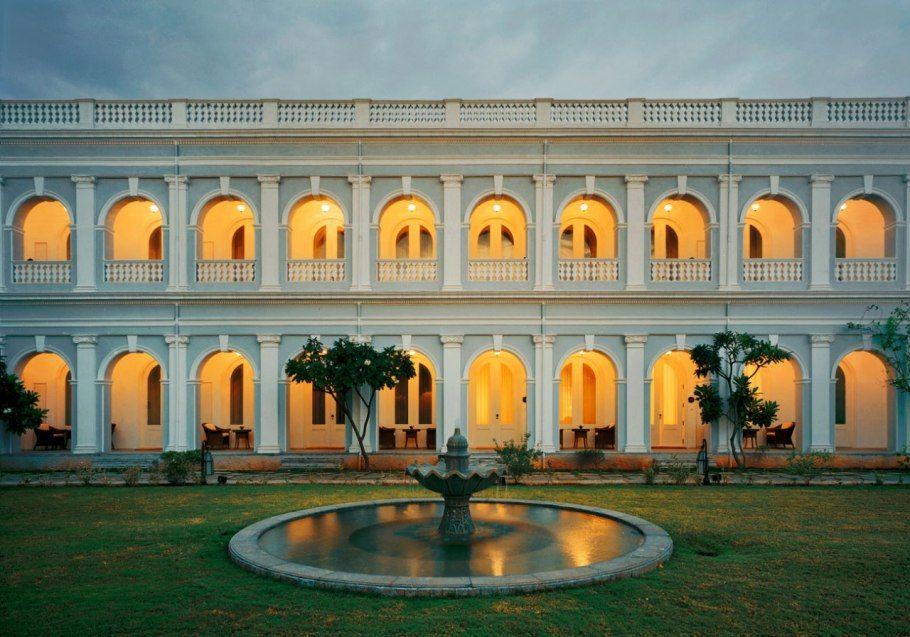 Courtyard At Taj Falaknuma Palace Hotel