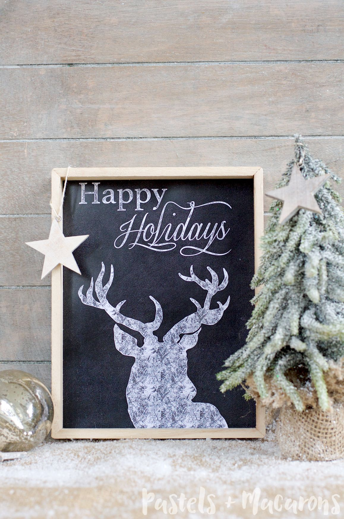 FREE Christmas Chalkboard Printable Christmas Decor