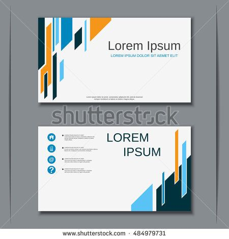 Modern business colorful visiting card vector design template modern business colorful visiting card vector design template abstract geometric style background reheart Gallery