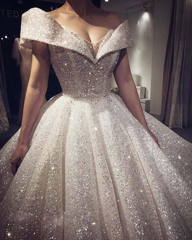 Princess Style Glitter Wedding Dresses 2020 Ball Gown ...