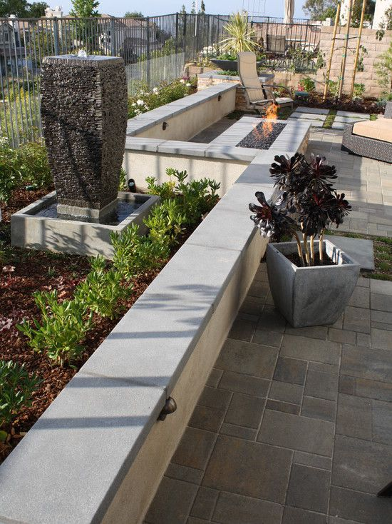 Precast Concrete Wall Caps Courtyards Patio Wall