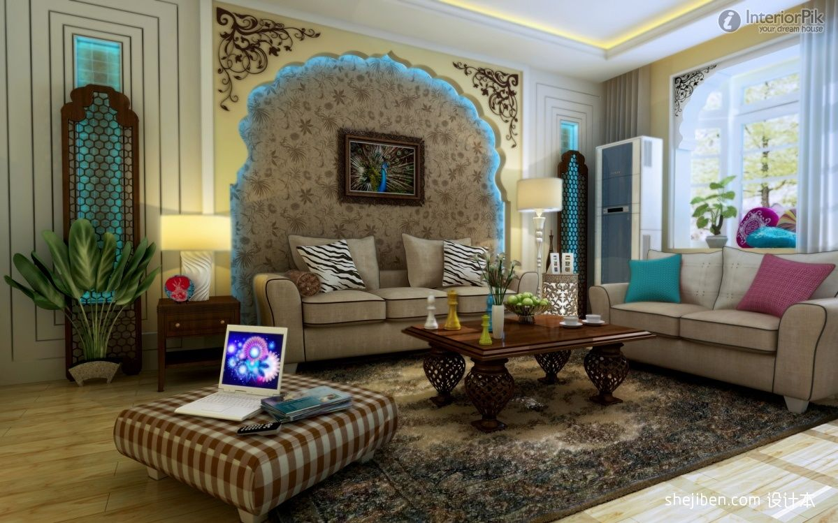 asian living room furniture - www.interiorpik effect picture