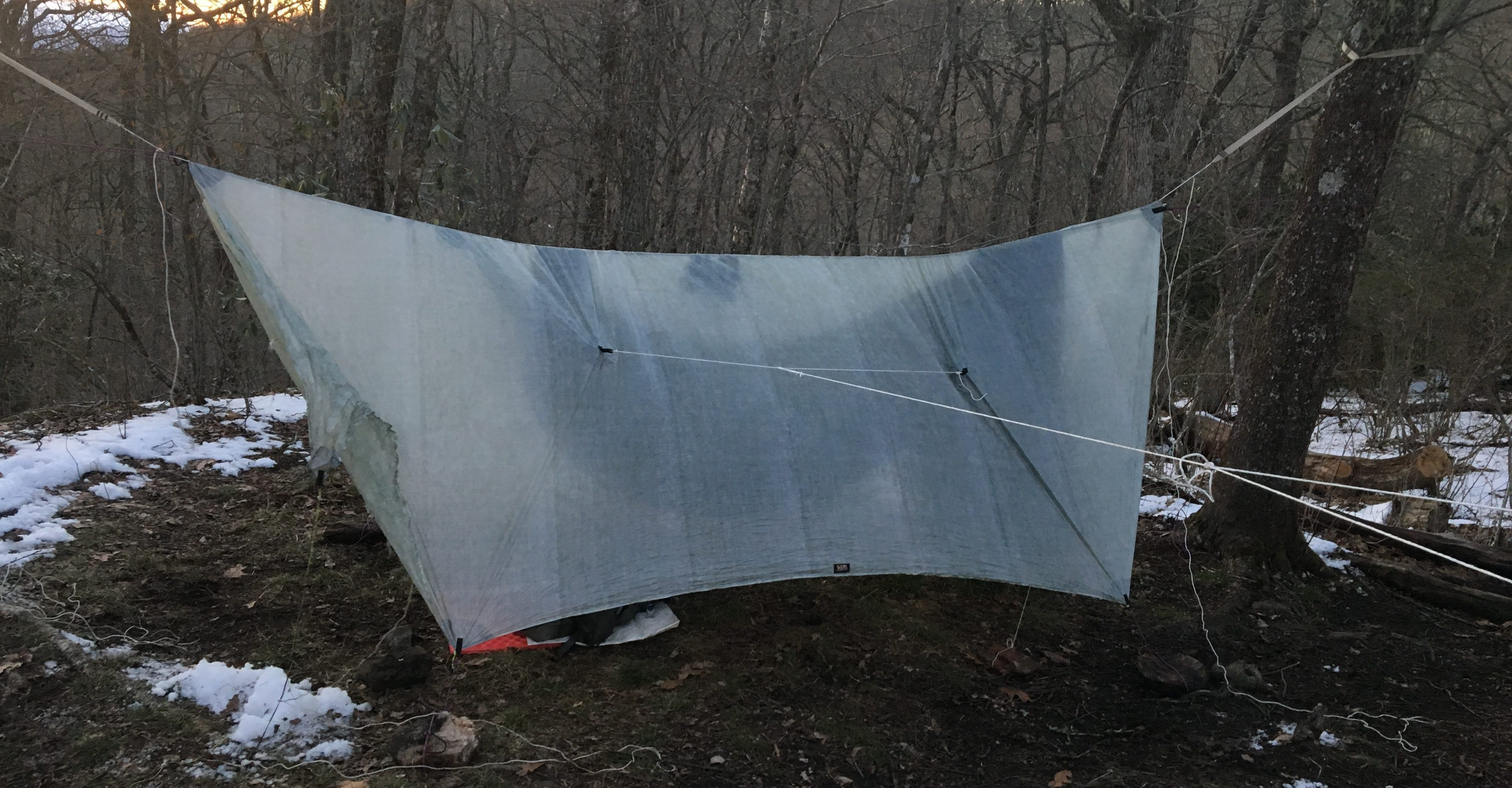 Rigging a hg tarp for hammock camping from scratch includes guy