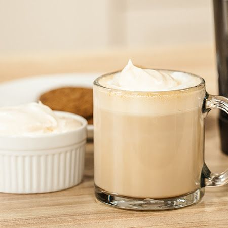 Caramel Cappuccino with Pumpkin Whipped Cream