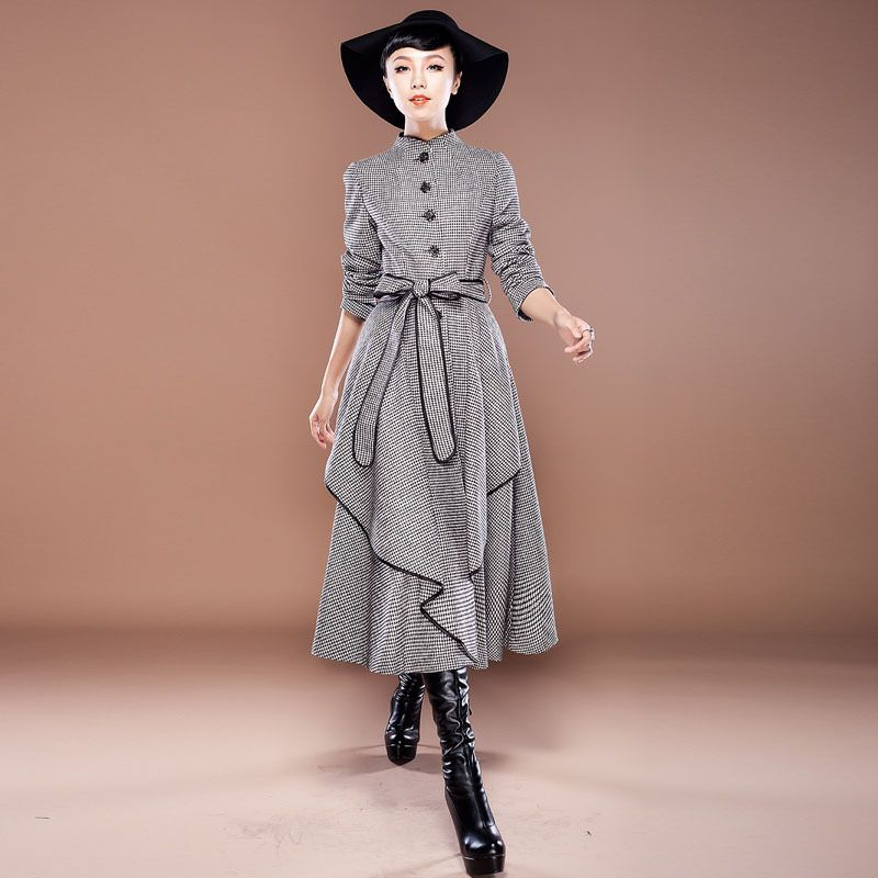 Free shipping wholesale new fashion Women wool coat Slim fit ...