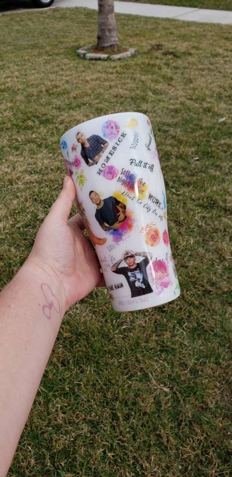 Kane Brown tumbler cup country music gift for her