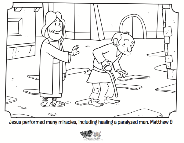 Jesus Heals Coloring Page Activity Matthew Mark And Luke Lessons
