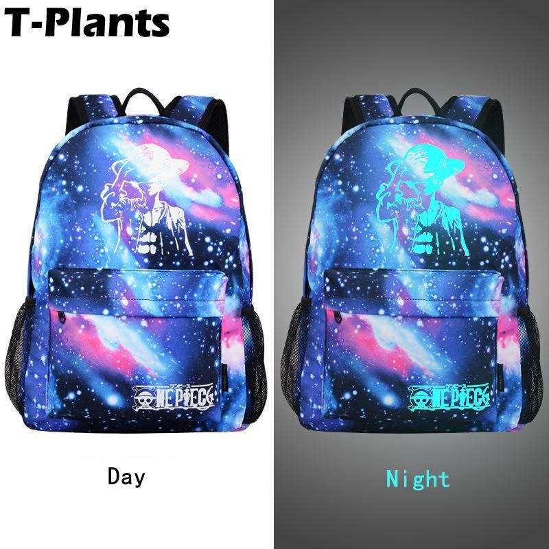 c245d1c39d T-Plants Fashion Nylon Galaxy Printed BTS Cartoon Luminous Backpacks Men  Laptop Bag Travel Rucksack Mochila Feminina School Bags.