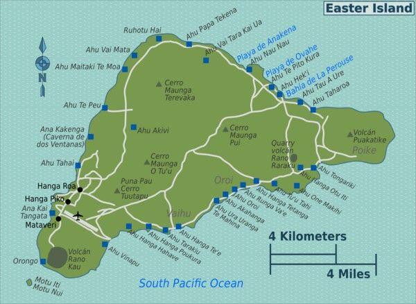 Easter Island Map Lets Go Pinterest Easter Island - Easter island map
