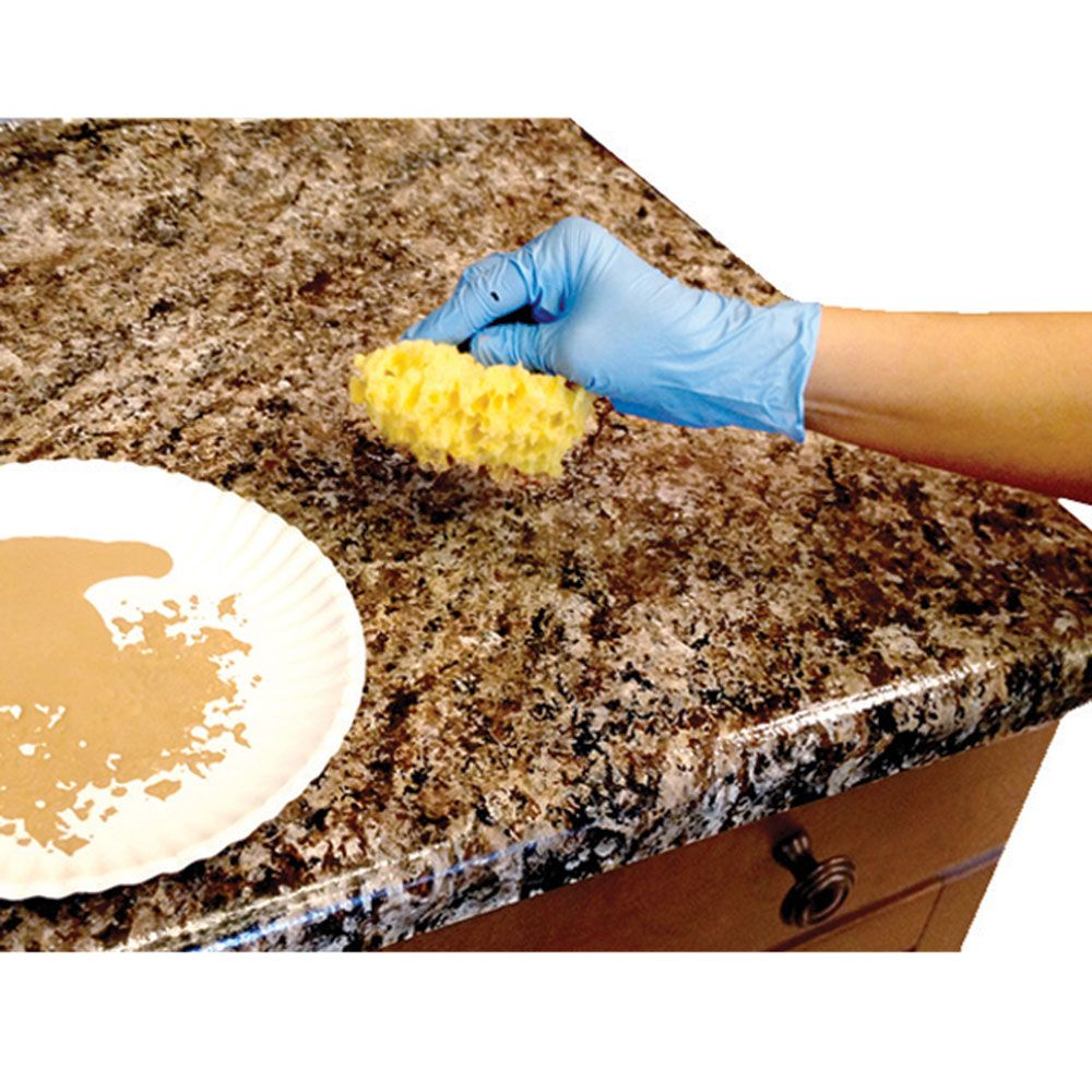 Diy Granite Countertops For Your Rv Kitchen Camping World Thinking This Would Be A Great Way To Update The Retro Green Gold