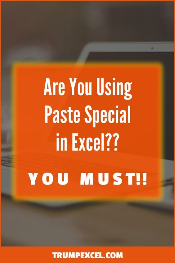 5 Excel Paste Special Shortcuts That Will Save You Tons of Time - spreadsheet programs