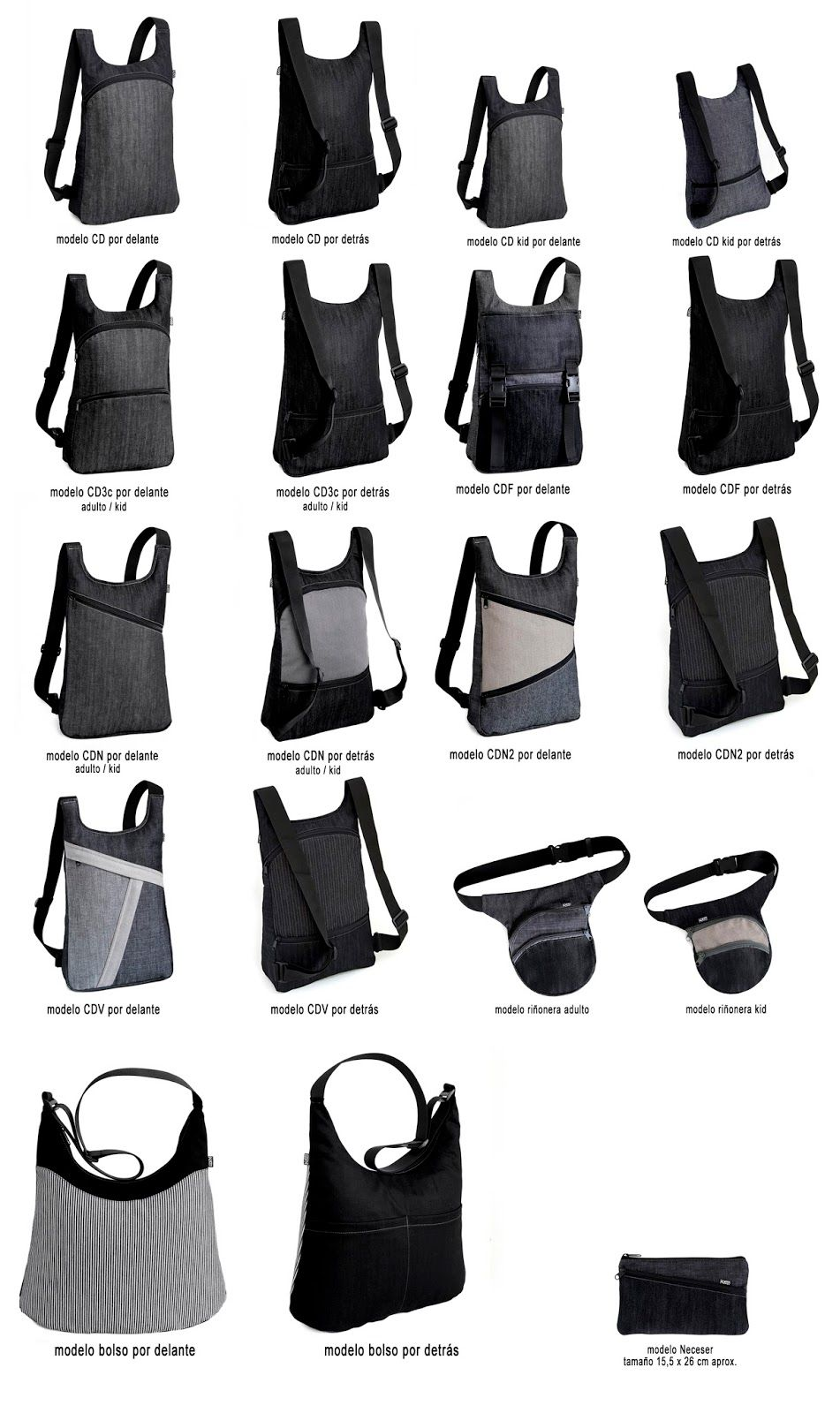 Blog catálogo de los bolsos, mochilas y riñoneras de la marca k1000 ...