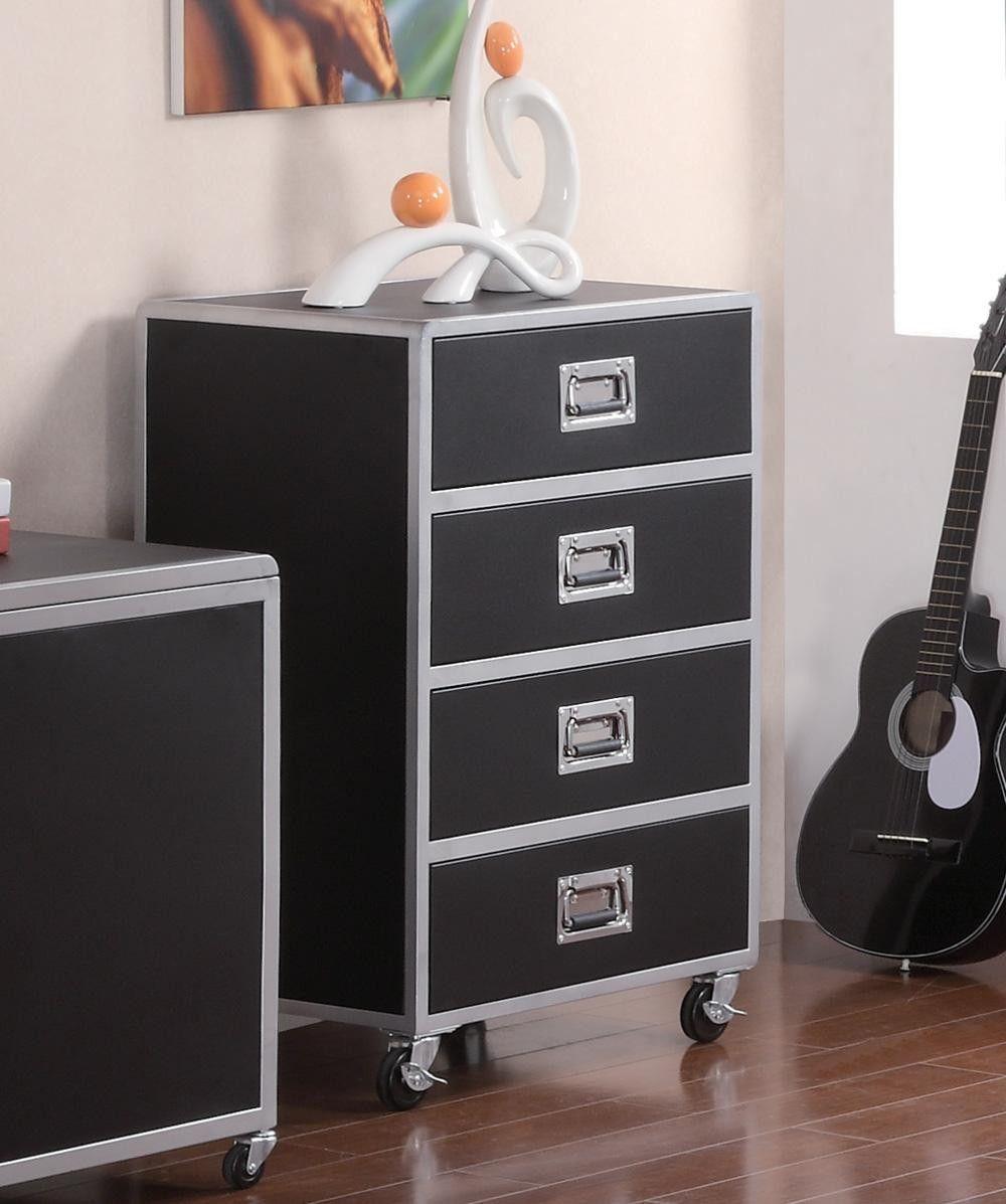 Coaster furniture leclair contemporary black metal drawer