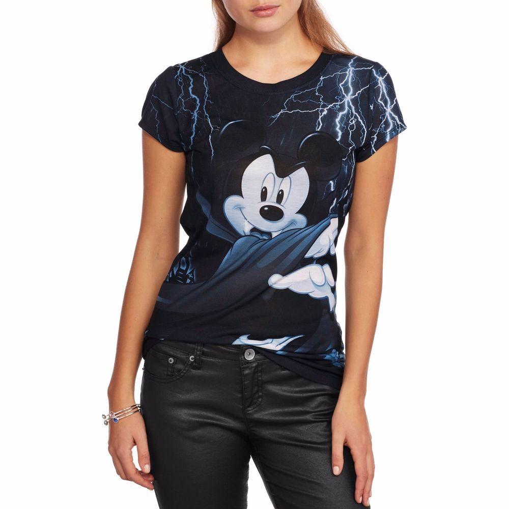 Disney Mickey Mouse Vampire Halloween Shirt Juniors Size S