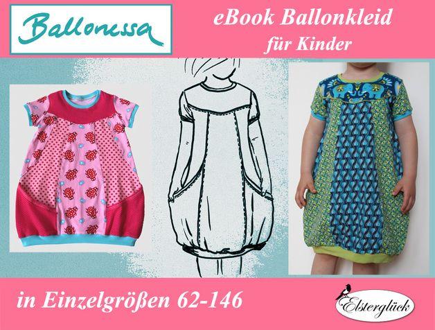 Kindermode - eBook BALLONESSA Schnittmuster Mädchen Ballonkleid ...
