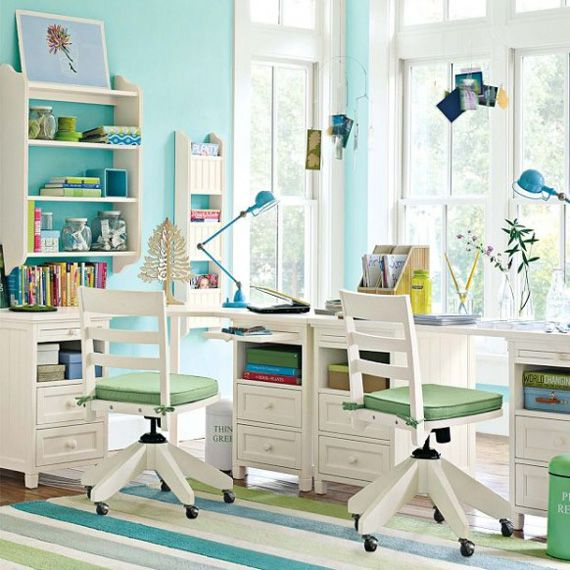 Amazing Pale Blue for Cool Trendy Study Desks for Children with ...