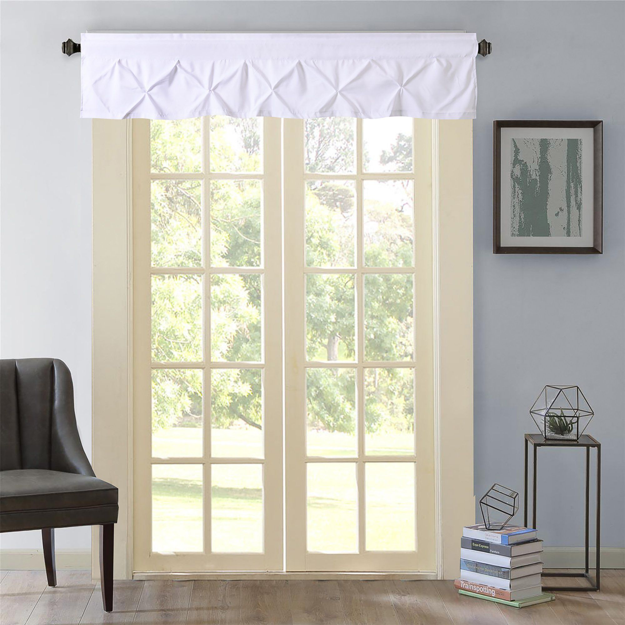 Hudson pintuck window curtain valance in products pinterest