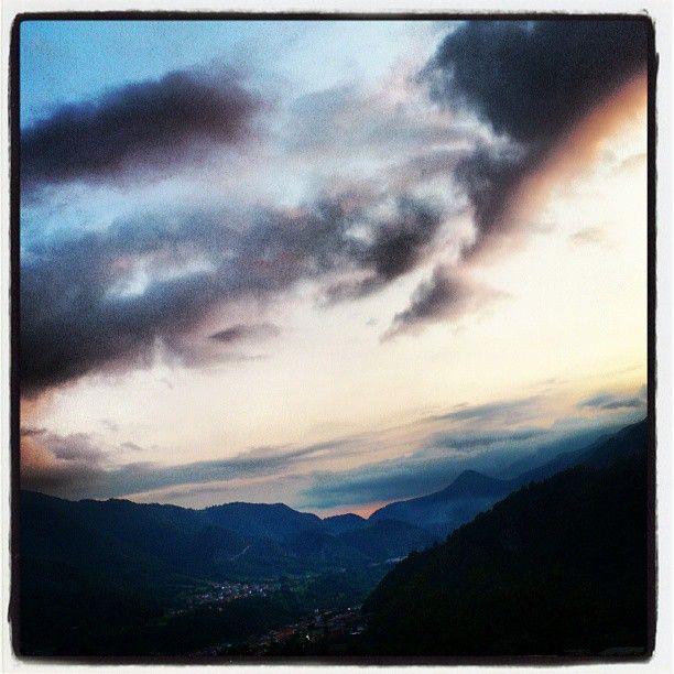 I love mountains and impressive skies...