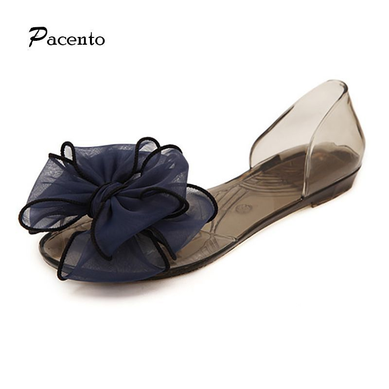 618dd9dfd7 2016 Pacento Clear Melissa Jelly Transparent Crystal Shoes Sandals Shoes  Platform Flats Femal Women Outdoors Fashion Flowers #JellyShoesCrystal