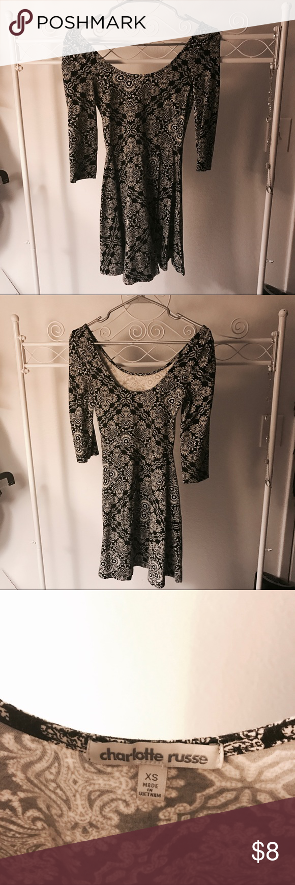 Charlotte russe fit and flaire cute dress that you can dress up or