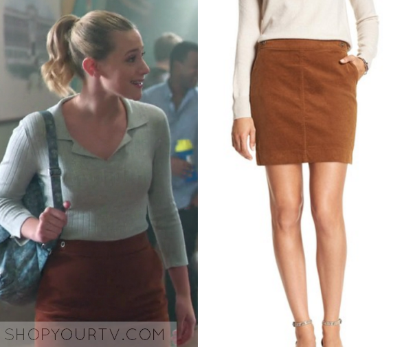 betty cooper lili reinhart wears this button front mini