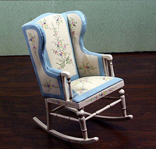 Miniature Dollhouse Furniture by BESPAQ Belmont Nursery Rocking ...