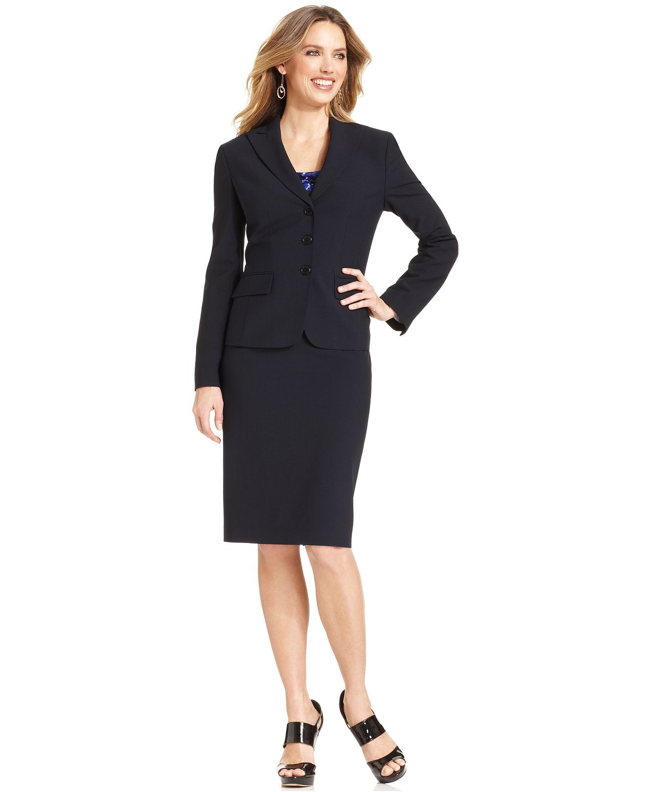 Suits & Suit Separates Looking for business attire for women? Elevate your professional wardrobe with polished ladies' suits, sleek dress pants and chic jumpsuits for women .