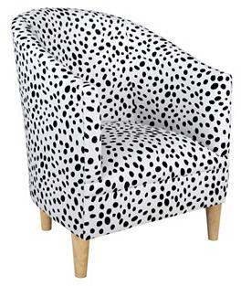 Skyline Furniture Mfg. Inc. Ashlee Tub Chair, Black Dots