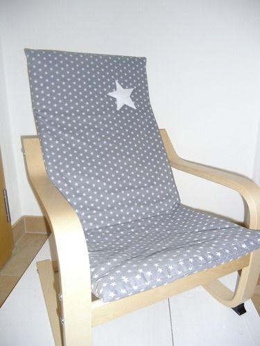 Kindersessel grau  Bezug für Kindersessel grau weiße Sterne