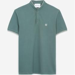 Photo of The Kooples – Green insignia slim fit polo with buttons – Damenthekooples.com