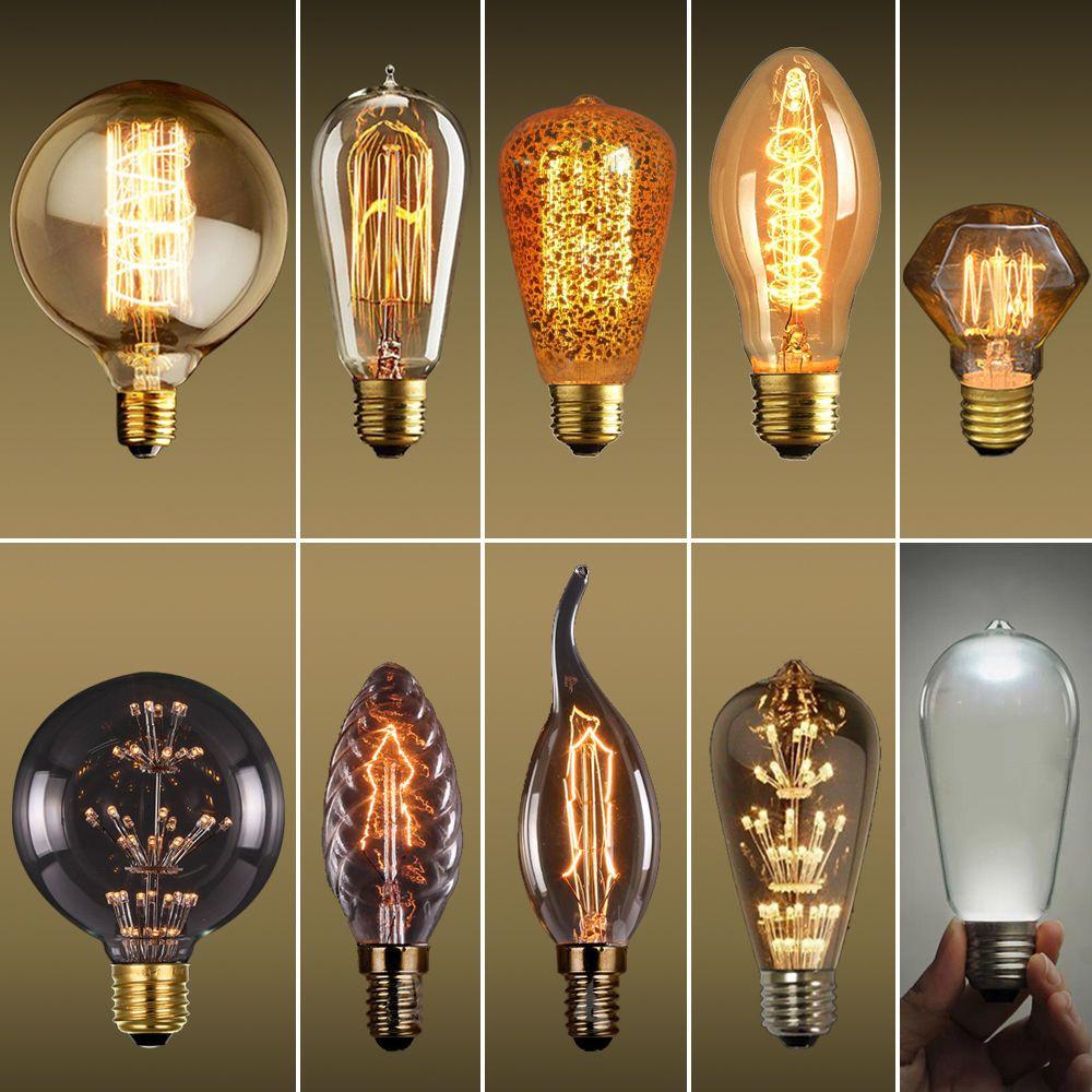 3w 40w 110v 220v E27 Marconi Style Led Light Bulb Vintage Edison Wattage 3w 40w Base Type E27 Fine Qu Edison Lighting Tungsten Light Filament Bulb