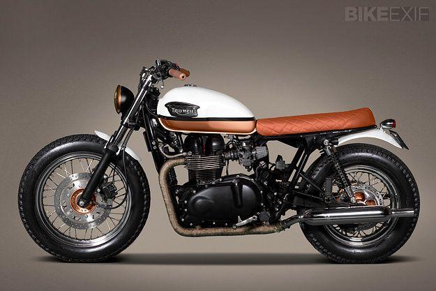 "Ton-Up Garage Triumph Bonneville T100 ""Urban Pearl"""
