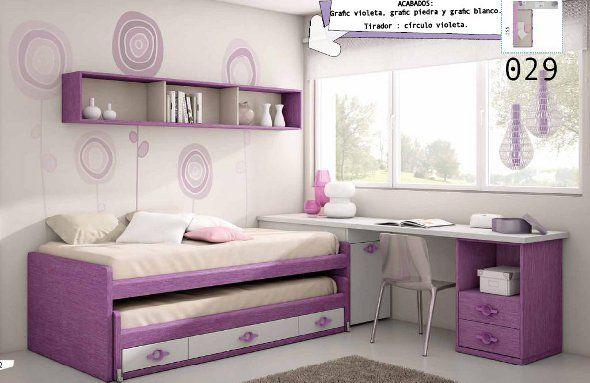 Decoracion de cuartos juveniles peque os buscar con - Habitaciones juveniles espacios pequenos ...