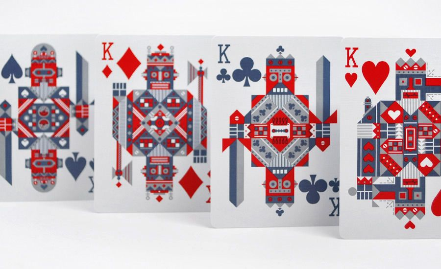 Robots Robocycle Robot Bicycle Playing Cards With Images
