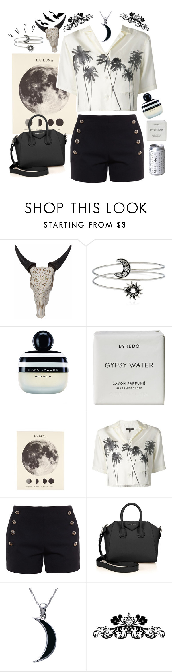 """Black and White"" by zab-zebra ❤ liked on Polyvore featuring Marc Jacobs, Byredo, rag & bone, Chloé, Givenchy, Carolina Glamour Collection, Old Navy, women's clothing, women and female"